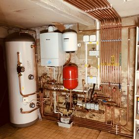 Complete heating system installation in Reigate
